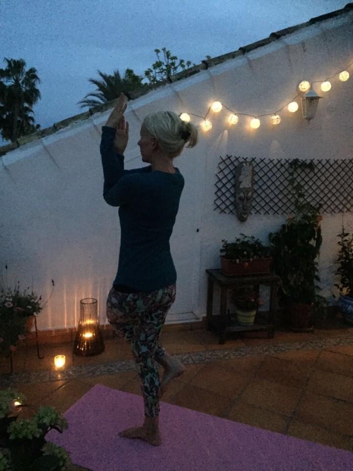 Yoga student, yogateacher